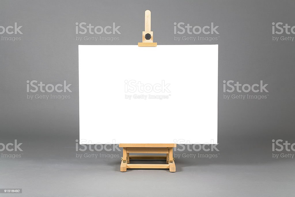 Small easel with canvas royalty-free stock photo
