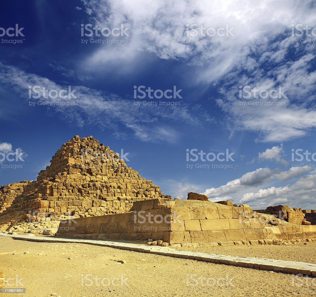 small egypt pyramid in Giza royalty-free stock photo