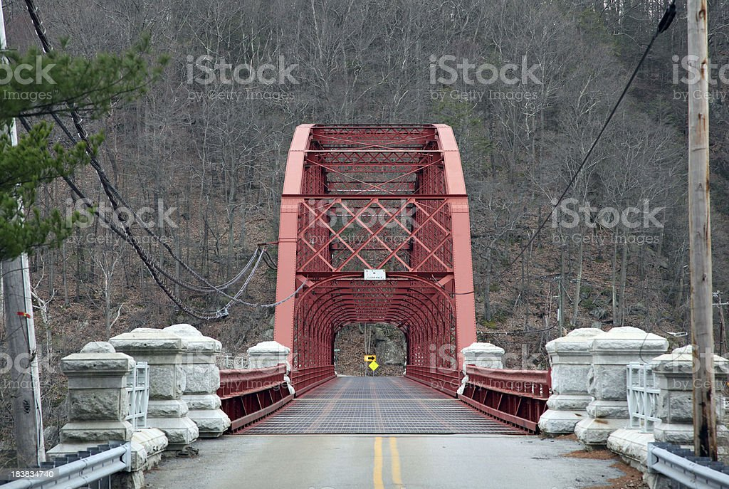 Small Empty Red Bridge royalty-free stock photo