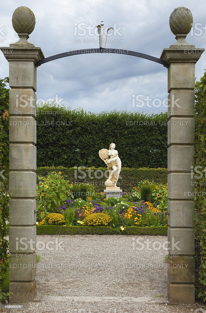 Small enclosed garden royalty-free stock photo