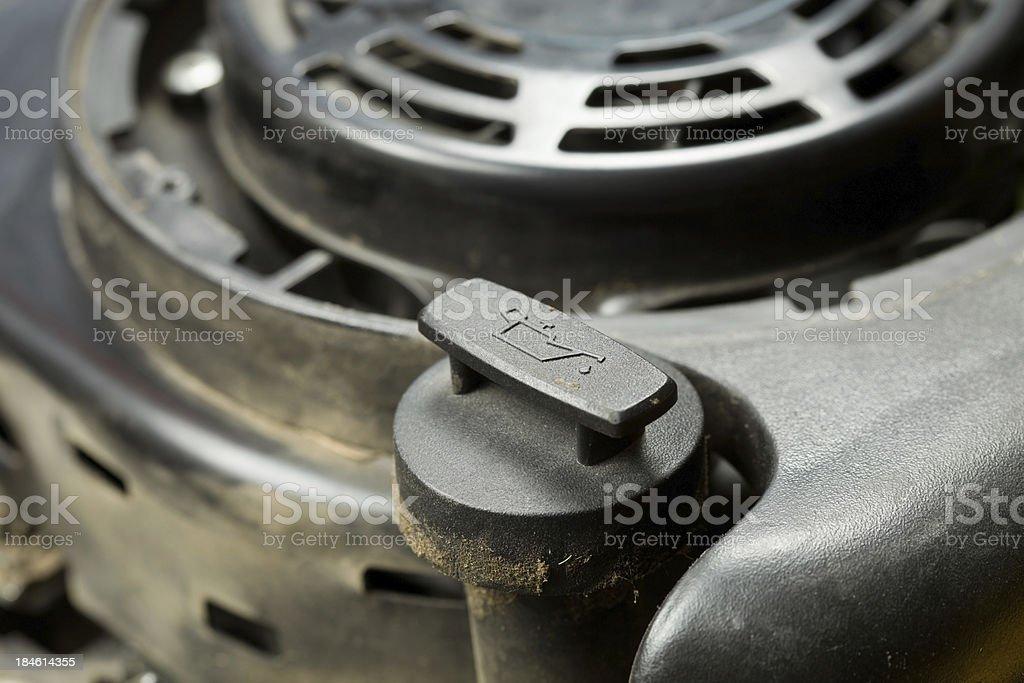 Small Engine Oil Fill Cap stock photo