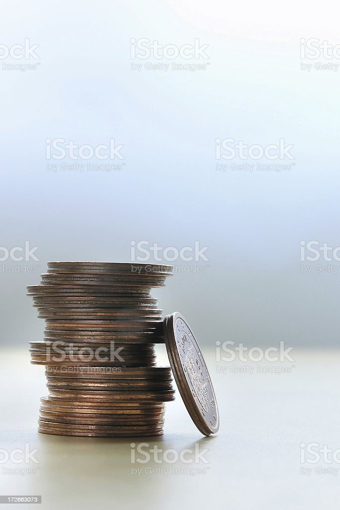 small euro coins royalty-free stock photo