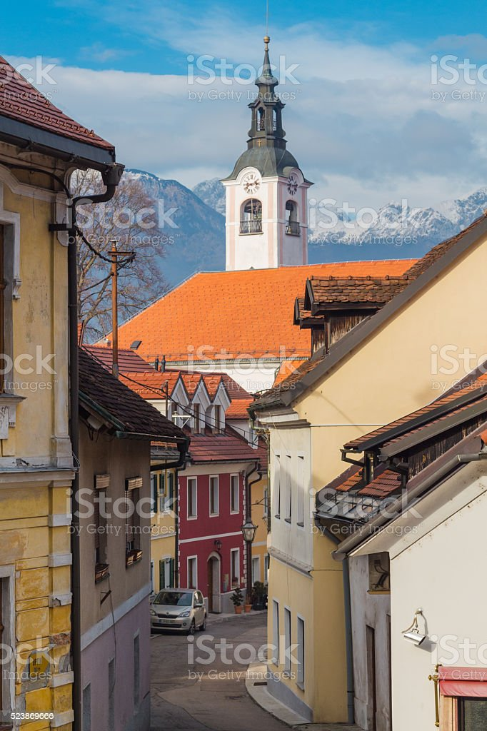 Small European street. stock photo
