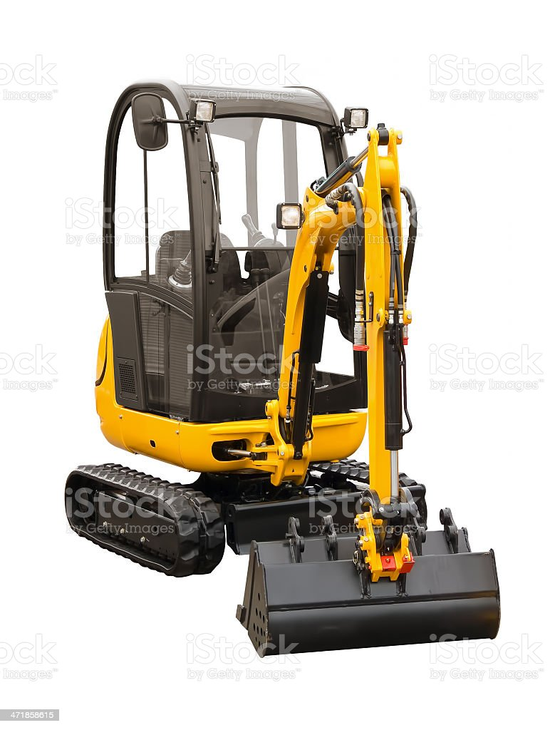 Small excavator royalty-free stock photo