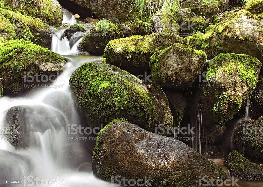 Small falls royalty-free stock photo