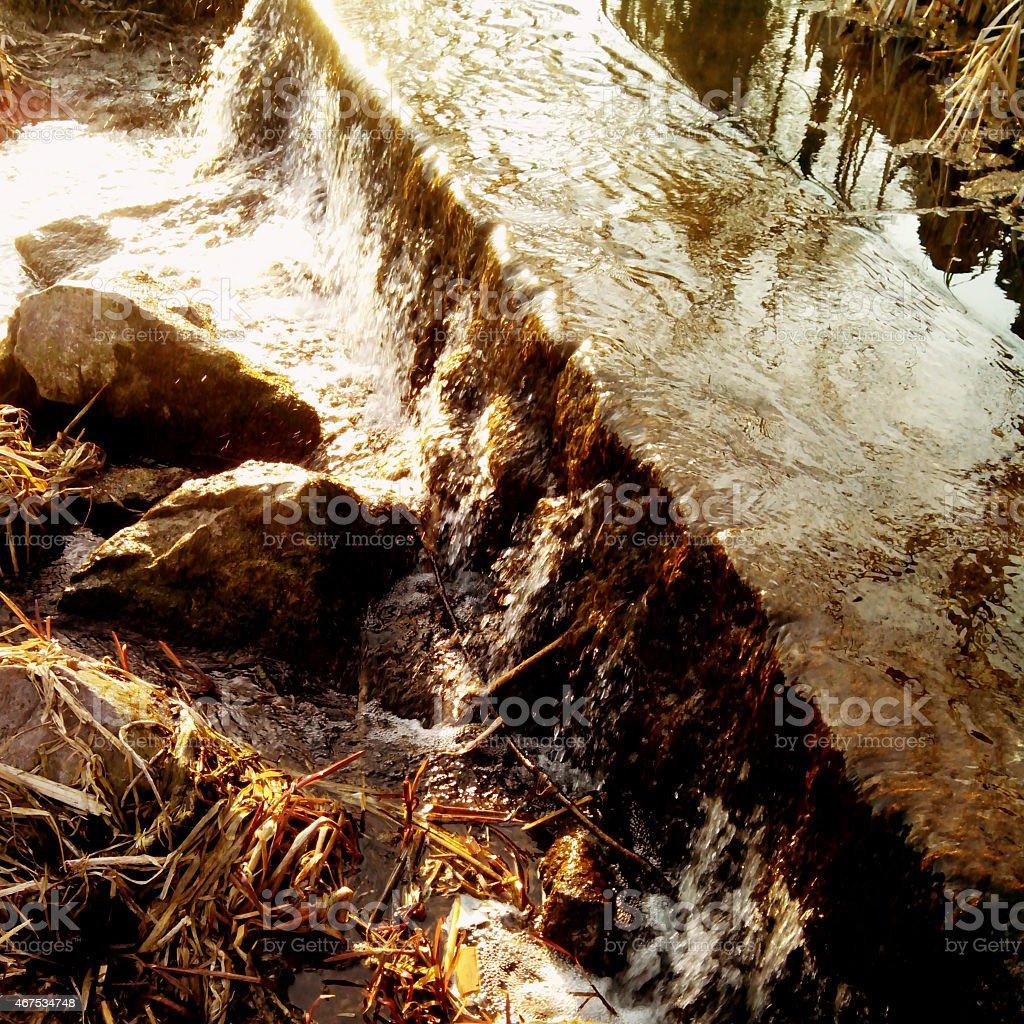 Small falls. stock photo