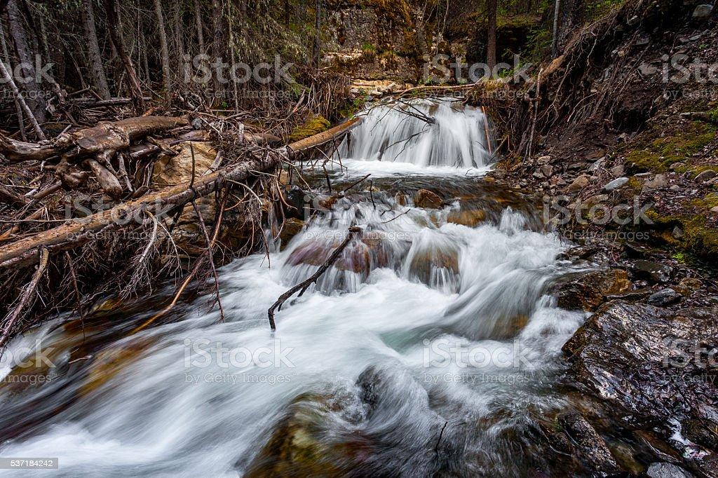 Small falls stock photo
