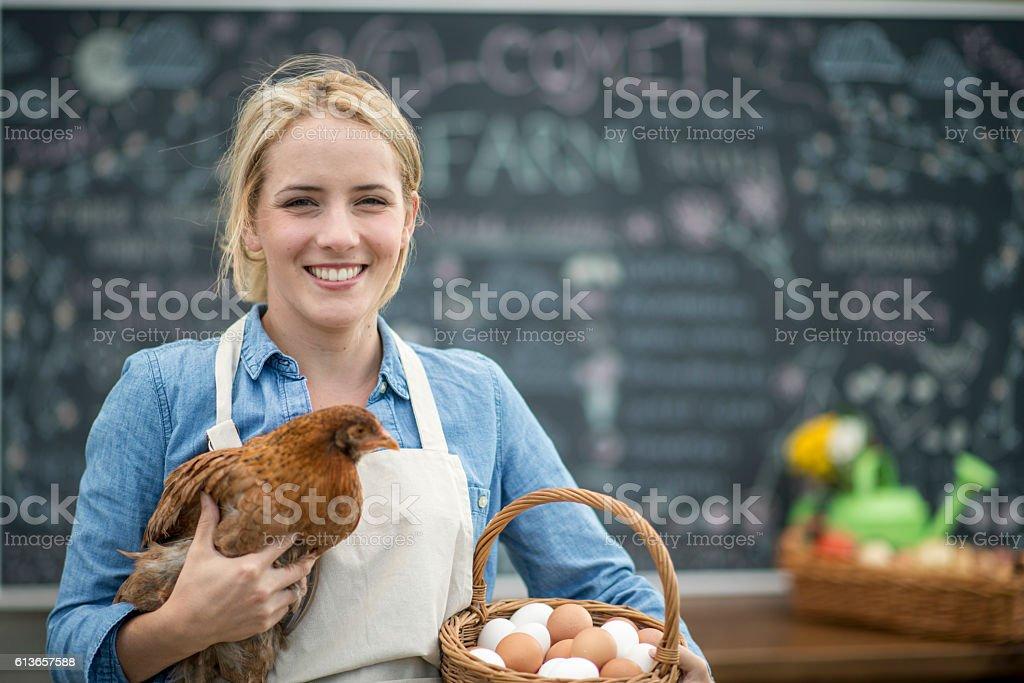 Small Farmer and Entrepreneur stock photo