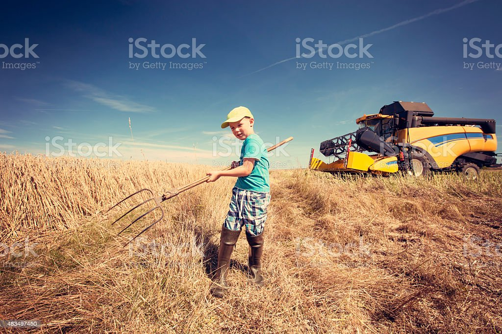 Small farmer stock photo