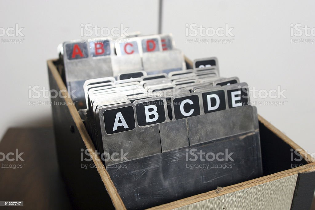 Small filing system royalty-free stock photo