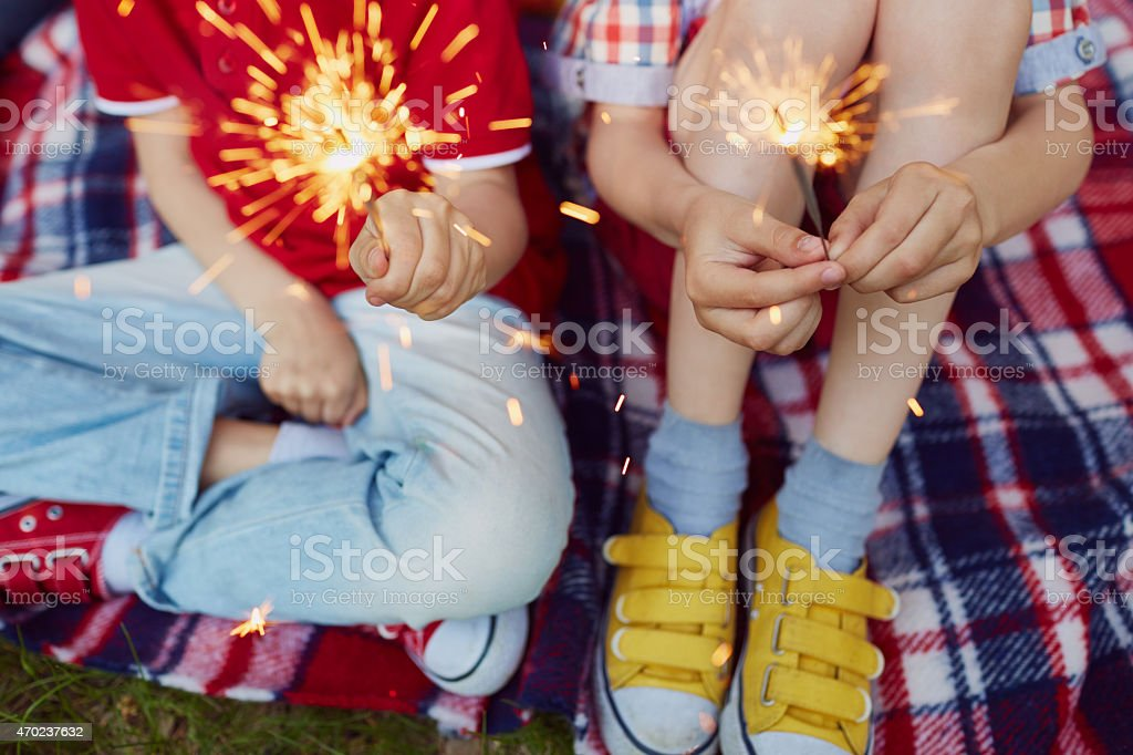 Small firework stock photo