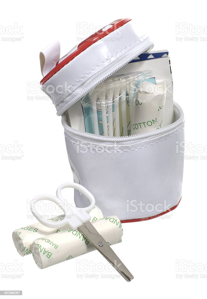 Small first aid kit stock photo