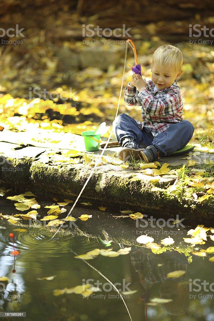 small fisherman royalty-free stock photo