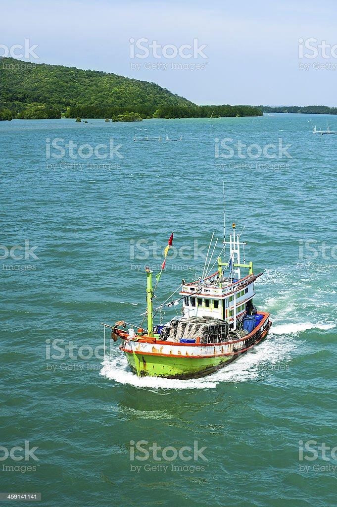 Małe rybackich łodzi zbiór zdjęć royalty-free
