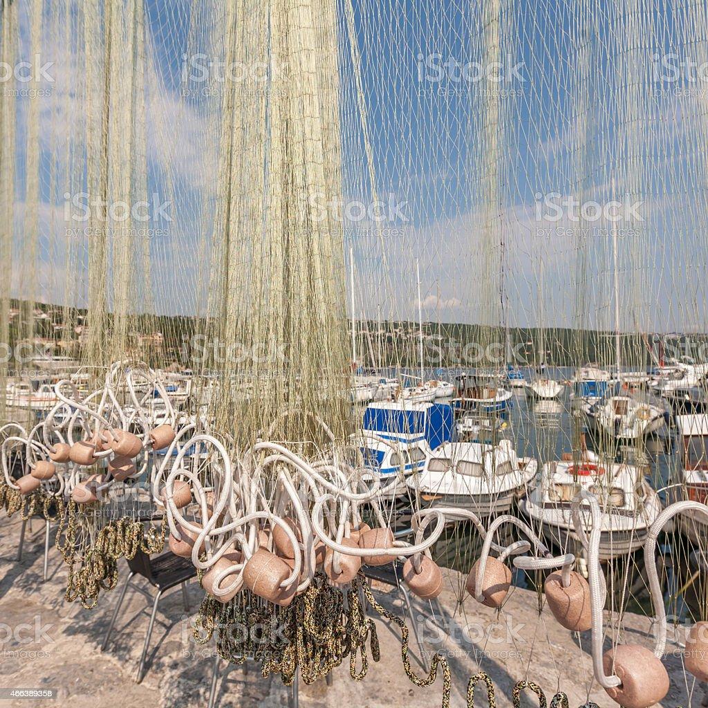 Small fishing harbor stock photo