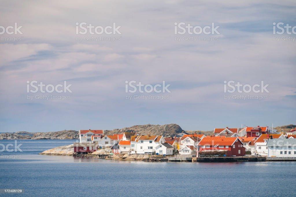 Small Fishing village royalty-free stock photo