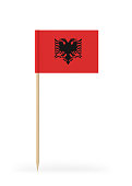 Small Flag of Albania on a Toothpick