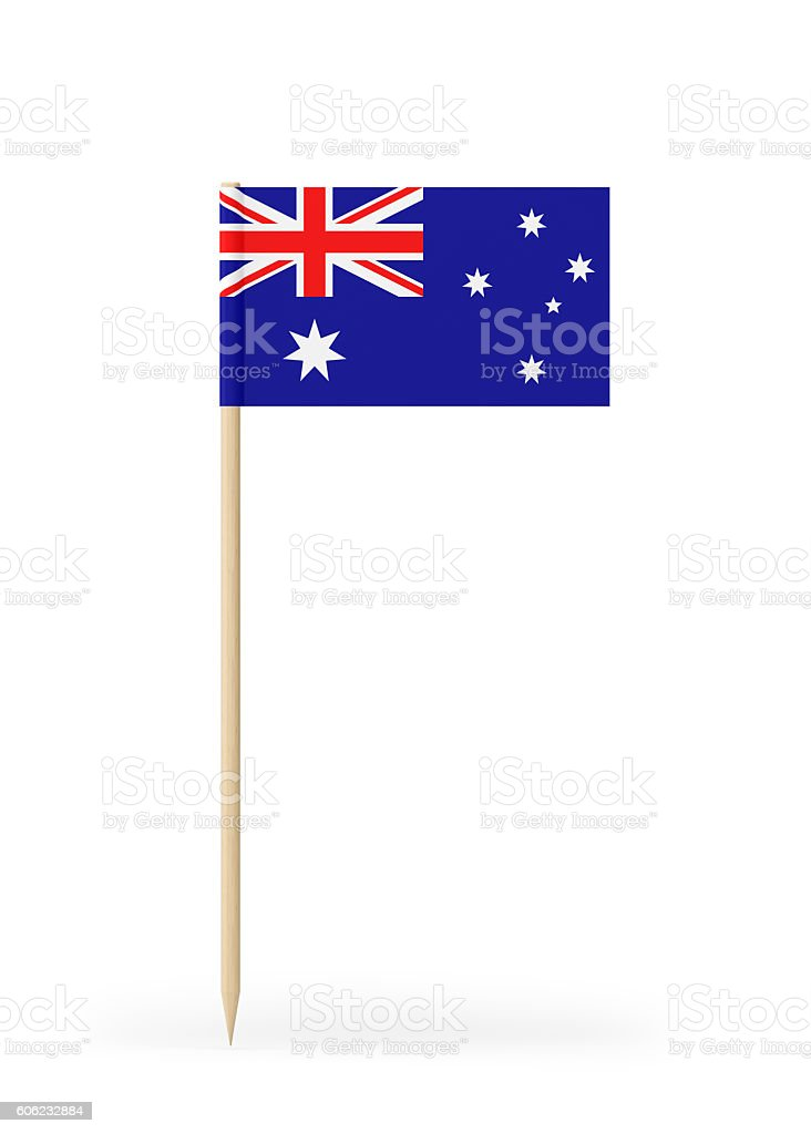 Small Flag of Australia on a Toothpick stock photo