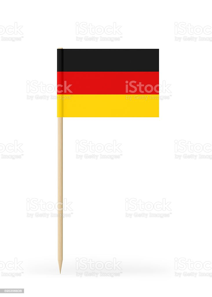 Small Flag of Germany on a Toothpick stock photo