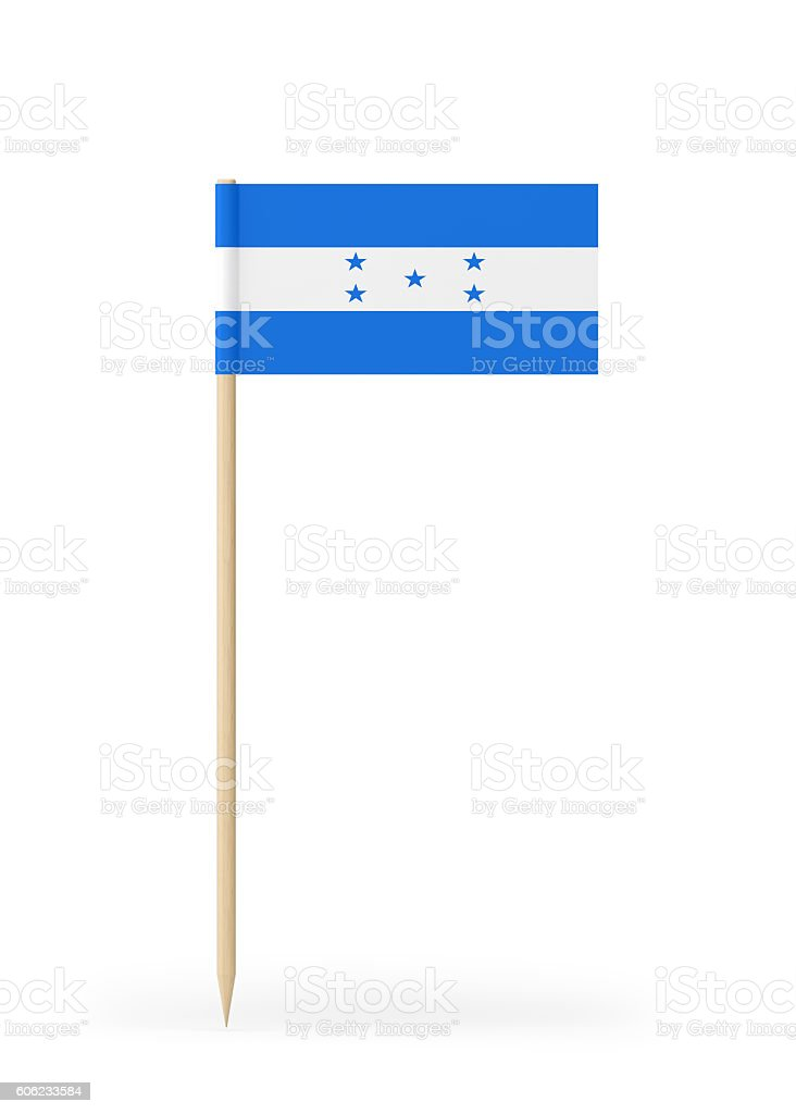 Small Flag of Honduras on a Toothpick stock photo