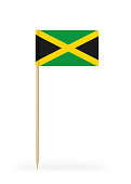 Small Flag of Jamaica on a Toothpick