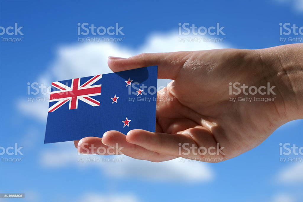 Small flag of New Zeland stock photo