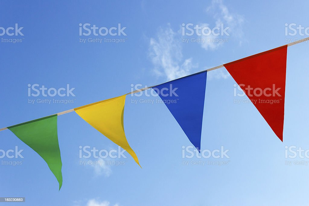 small flags stock photo