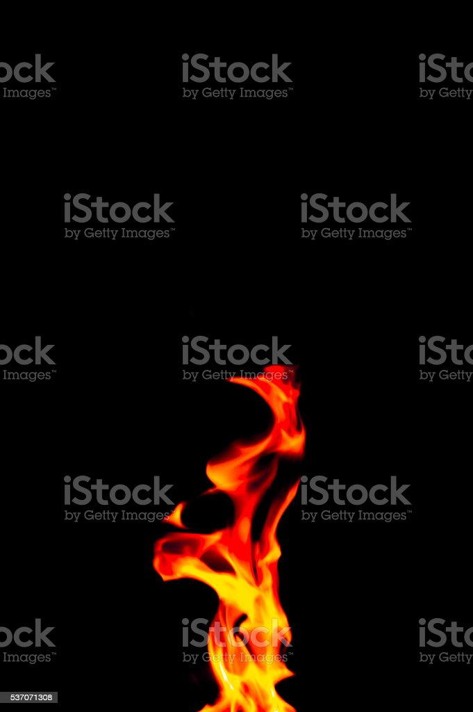 Small flame stock photo