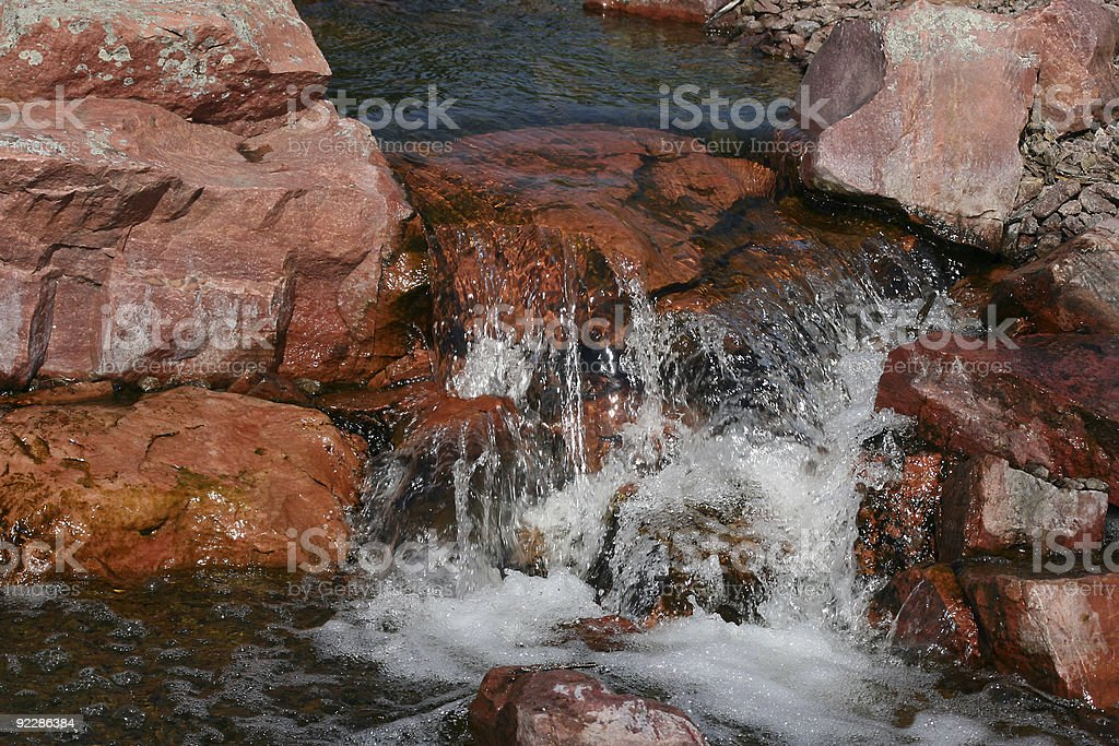 Small Flowing Waterfall royalty-free stock photo