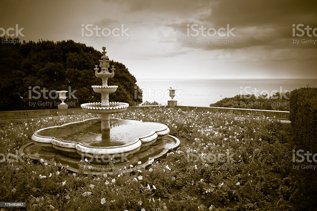 Small fountain in a park royalty-free stock photo