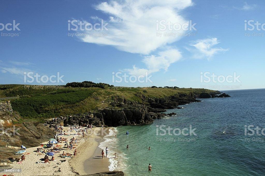Small french britanny beach royalty-free stock photo