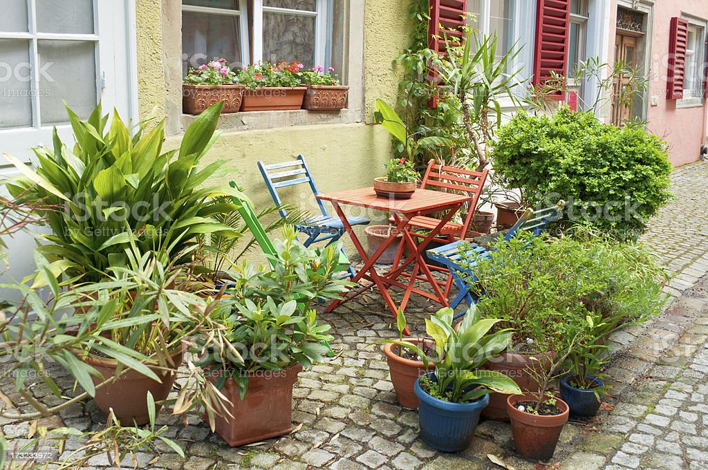 Small front garden in Germany royalty-free stock photo