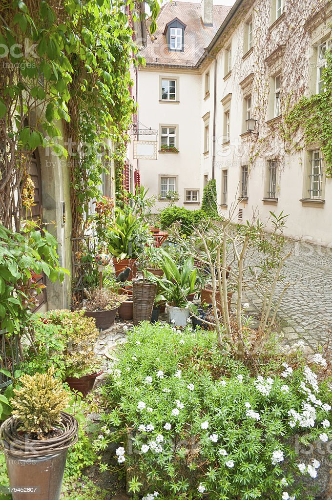 Small front garden in Germany stock photo