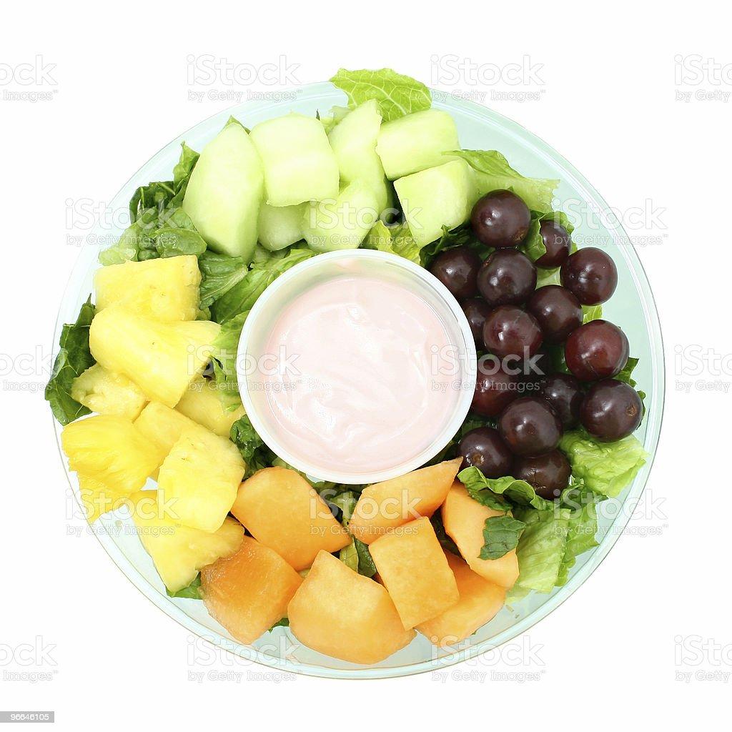 Small Fruit Tray and Yogurt royalty-free stock photo