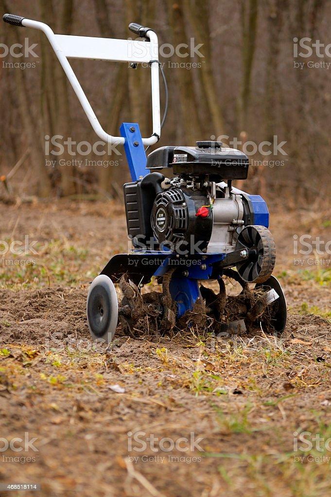 Small garden cultivator stock photo