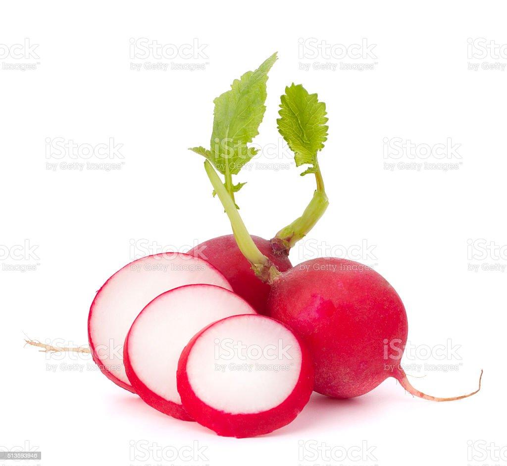 Small garden radish stock photo