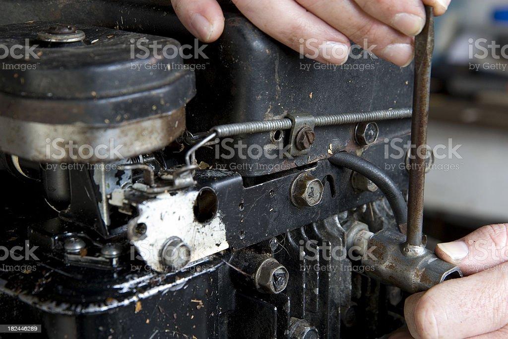 Small Gas Engine Repair royalty-free stock photo