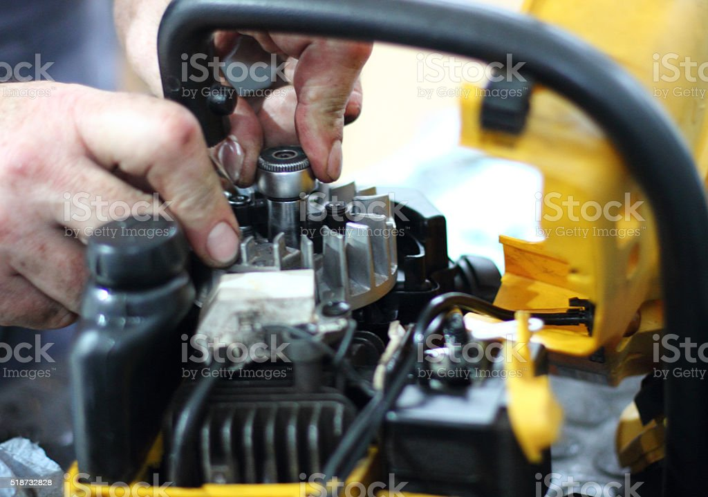 Small Gas Engine Repair stock photo