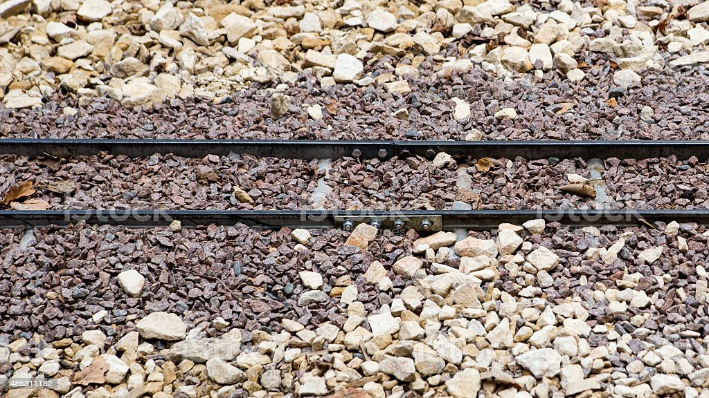 Small gauge train track royalty-free stock photo