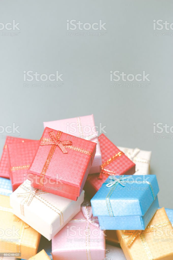 Small gift box stock photo