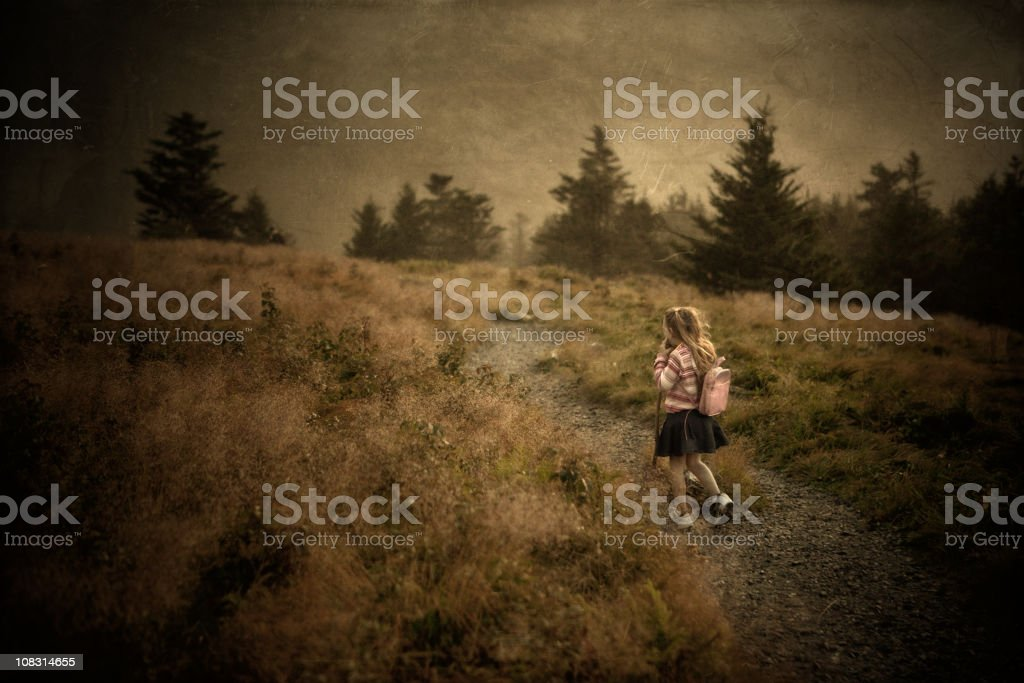 small girl at Roan Mountain State Park royalty-free stock photo