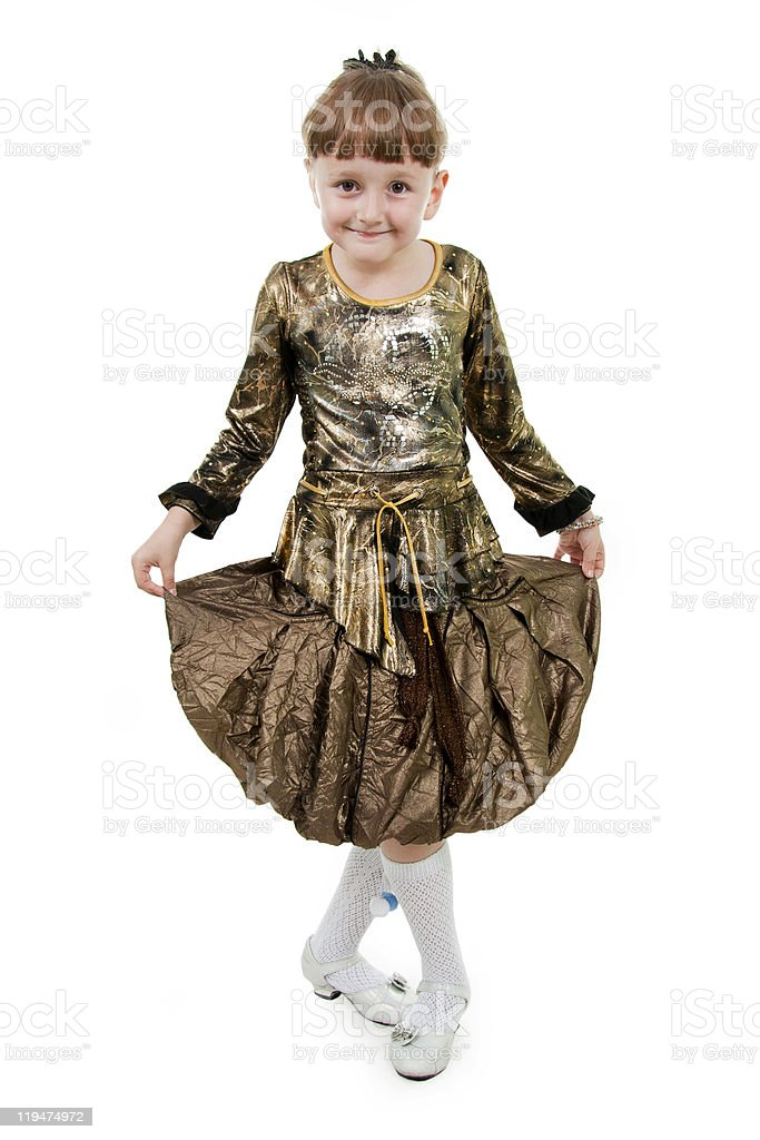 Small girl of fashion stock photo
