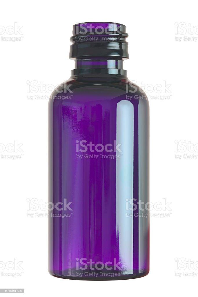 Small glass bottle stock photo