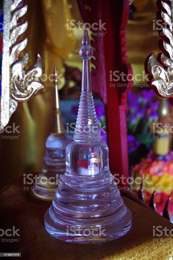Small Glass Buddha Pagoda stock photo