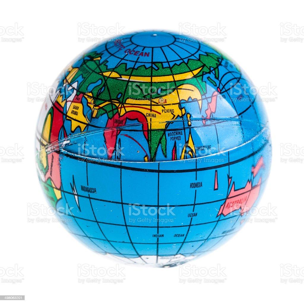 Small globe royalty-free stock photo