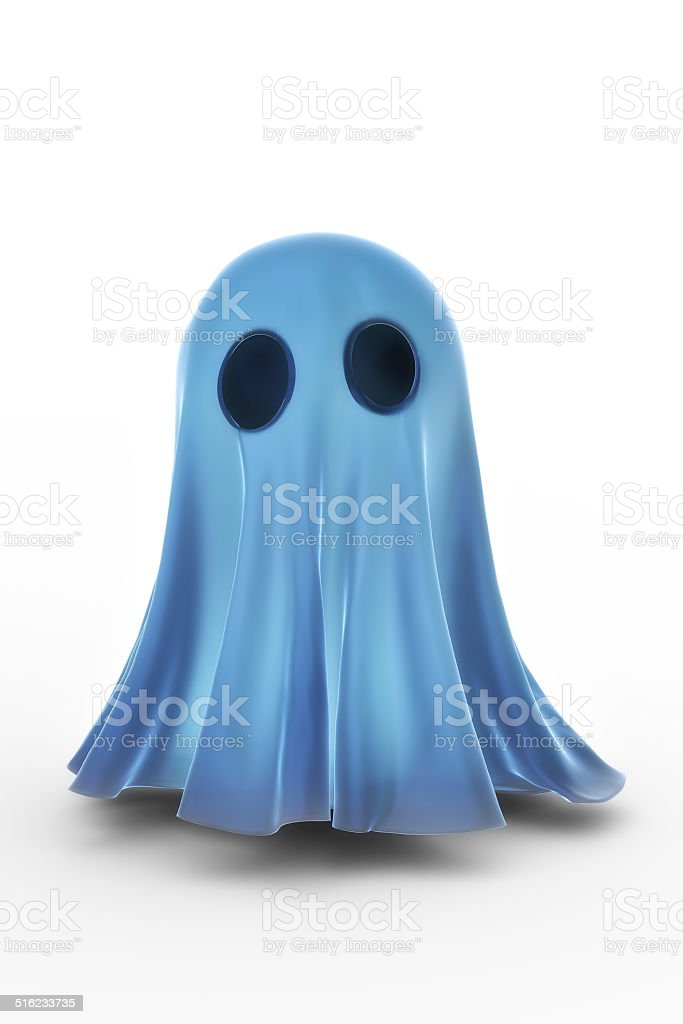 Small Glowing Ghost stock photo