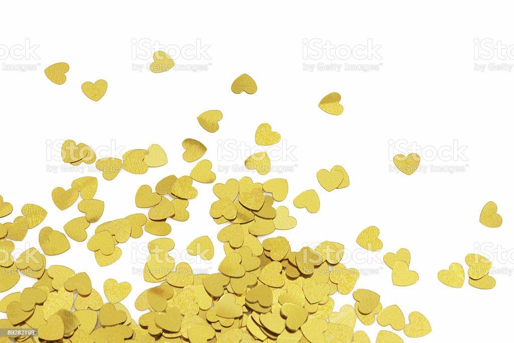 Small Golden Hearts stock photo