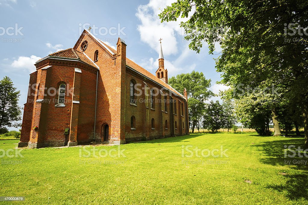 Small gothic style church royalty-free stock photo