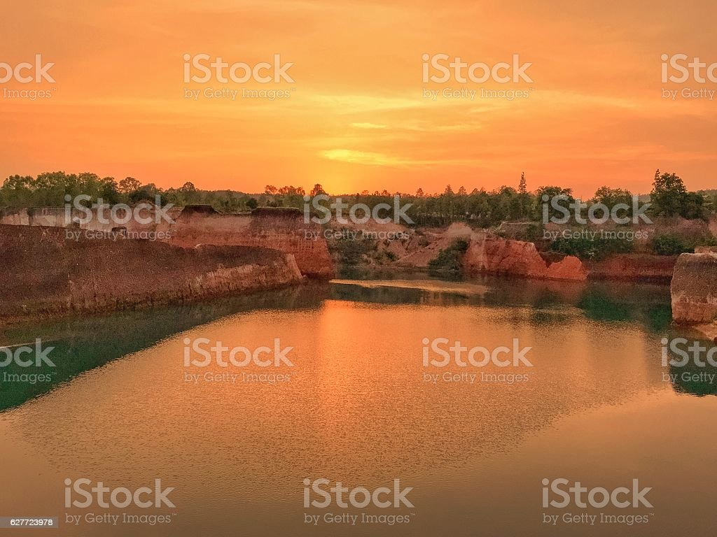 Small Grand Canyon sunset royalty-free stock photo
