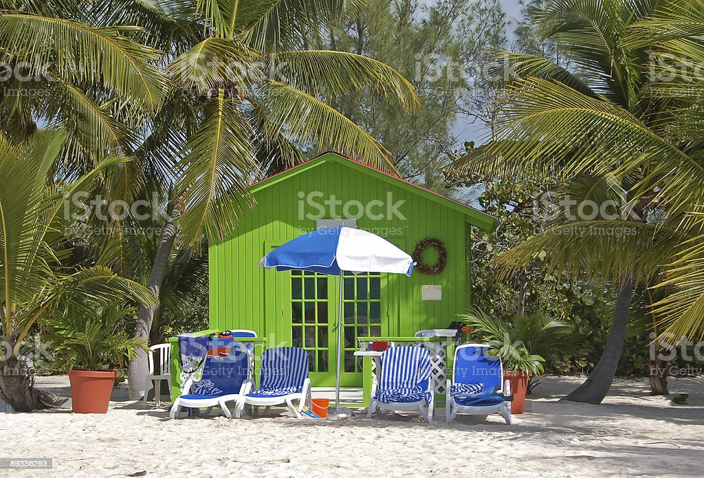 Small green house is tropical getaway royalty-free stock photo